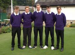 Junior Team 2015 from left. Jack Wright, Sean Coleman, Mathew Morrison, Max Ryan and Ben Chapman