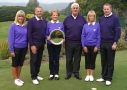 EGU Club Champions 2015 from left. Penny and Neil Hartley, Sharon and Charles Howroyd and Liz and Mark Waddington